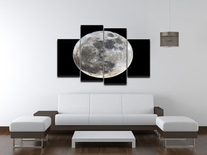 Full Moon 4 Split Panel Canvas - Canvas Art Rocks - 3