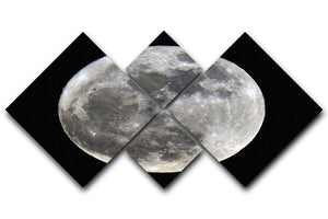 Full Moon 4 Square Multi Panel Canvas - Canvas Art Rocks - 1