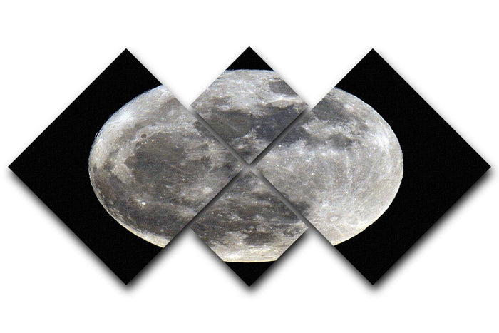 Full Moon 4 Square Multi Panel Canvas