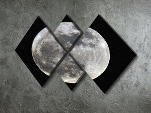 Full Moon 4 Square Multi Panel Canvas - Canvas Art Rocks - 2