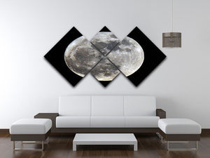 Full Moon 4 Square Multi Panel Canvas - Canvas Art Rocks - 3