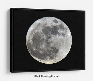 Full Moon Floating Frame Canvas - Canvas Art Rocks - 1