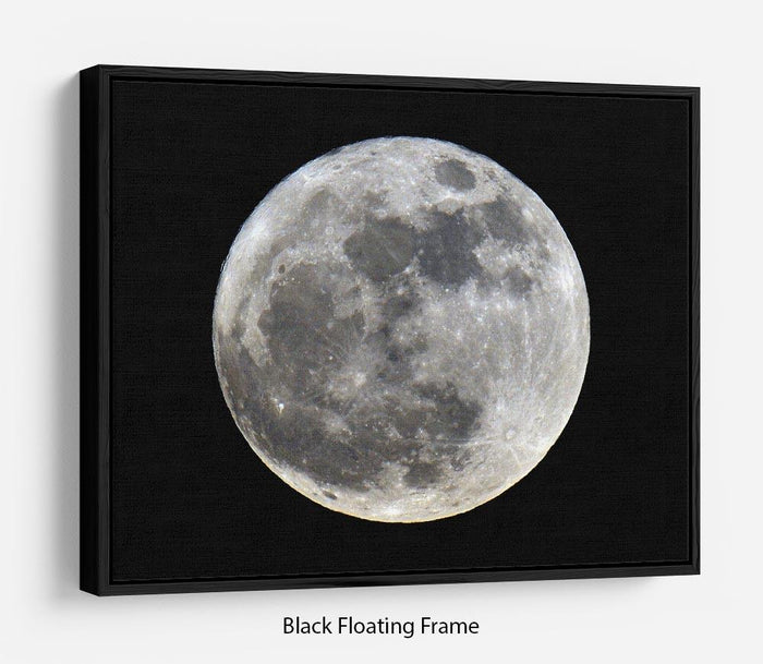 Full Moon Floating Frame Canvas