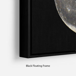 Full Moon Floating Frame Canvas - Canvas Art Rocks - 2