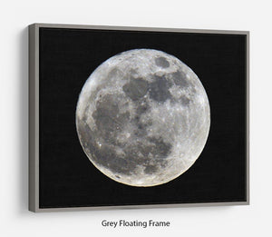 Full Moon Floating Frame Canvas - Canvas Art Rocks - 3