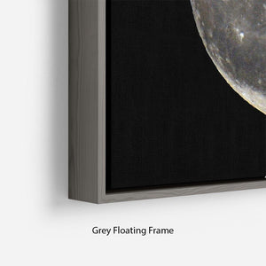 Full Moon Floating Frame Canvas - Canvas Art Rocks - 4