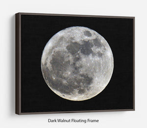 Full Moon Floating Frame Canvas - Canvas Art Rocks - 5