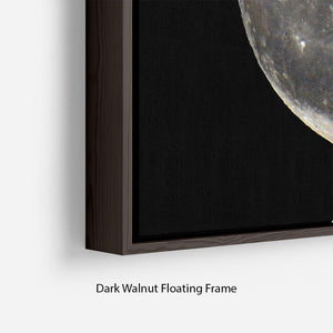Full Moon Floating Frame Canvas - Canvas Art Rocks - 6