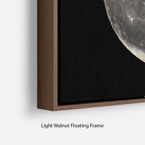 Full Moon Floating Frame Canvas - Canvas Art Rocks - 8