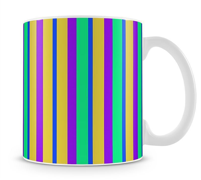 Funky Stripes Multi 2 Mug - Canvas Art Rocks - 1