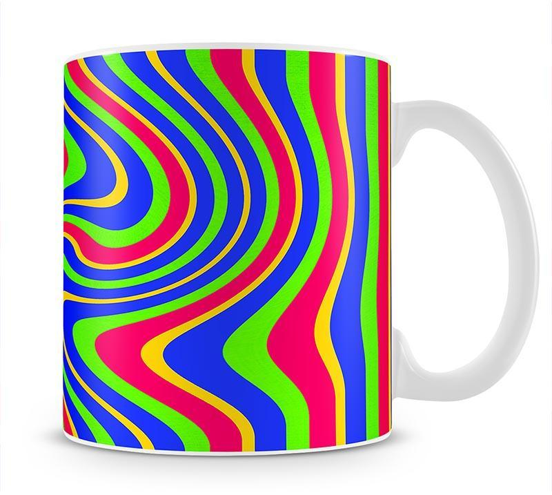 Funky Stripes Swirl 3 Mug - Canvas Art Rocks - 1