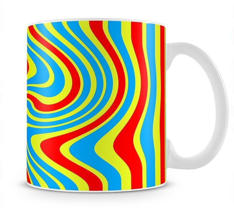 Funky Stripes Swirl 6 Mug - Canvas Art Rocks - 1