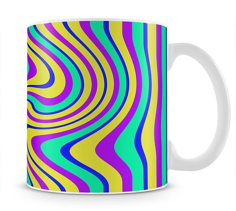 Funky Stripes Swirl Mug - Canvas Art Rocks - 1