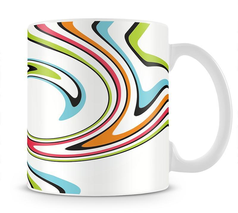 Funky Twirl Mug - Canvas Art Rocks - 1