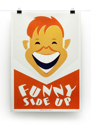 Funny Side Up Print - Canvas Art Rocks - 2