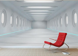 Futuristic interior Wall Mural Wallpaper - Canvas Art Rocks - 2