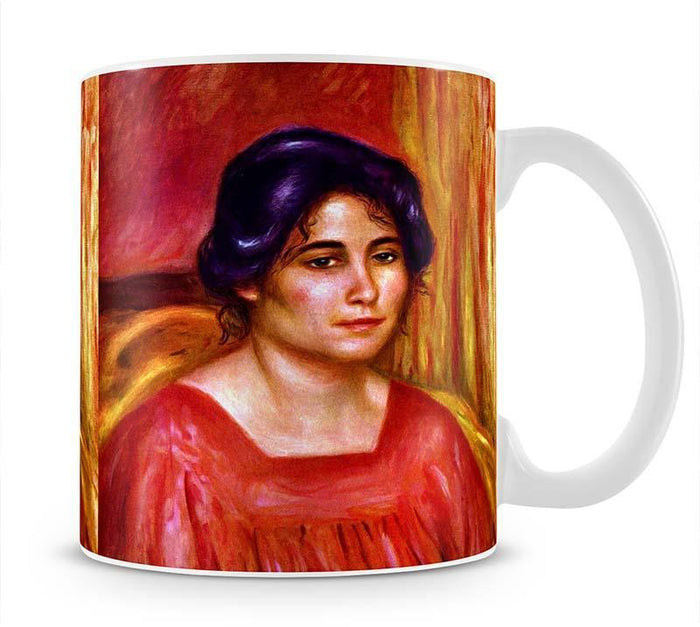 Gabrielle with red blouse by Renoir Mug
