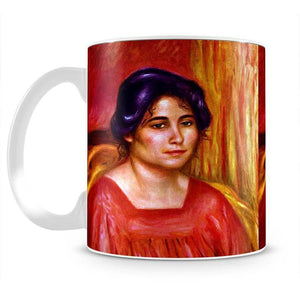 Gabrielle with red blouse by Renoir Mug - Canvas Art Rocks - 2