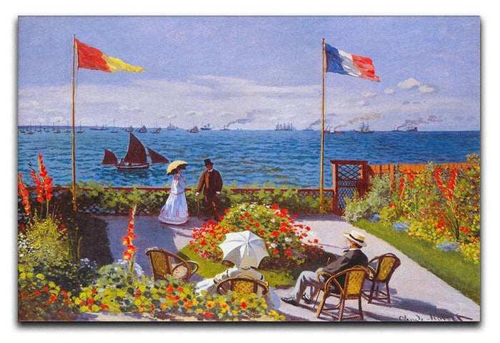 Garden at Sainte Adresse 2 by Monet Canvas Print or Poster