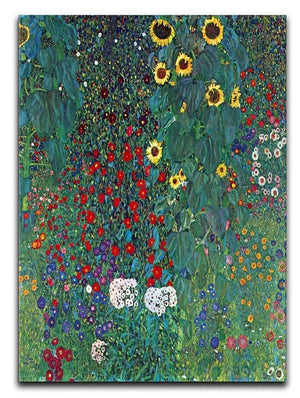 Garden with Crucifix 2 by Klimt Canvas Print or Poster  - Canvas Art Rocks - 1
