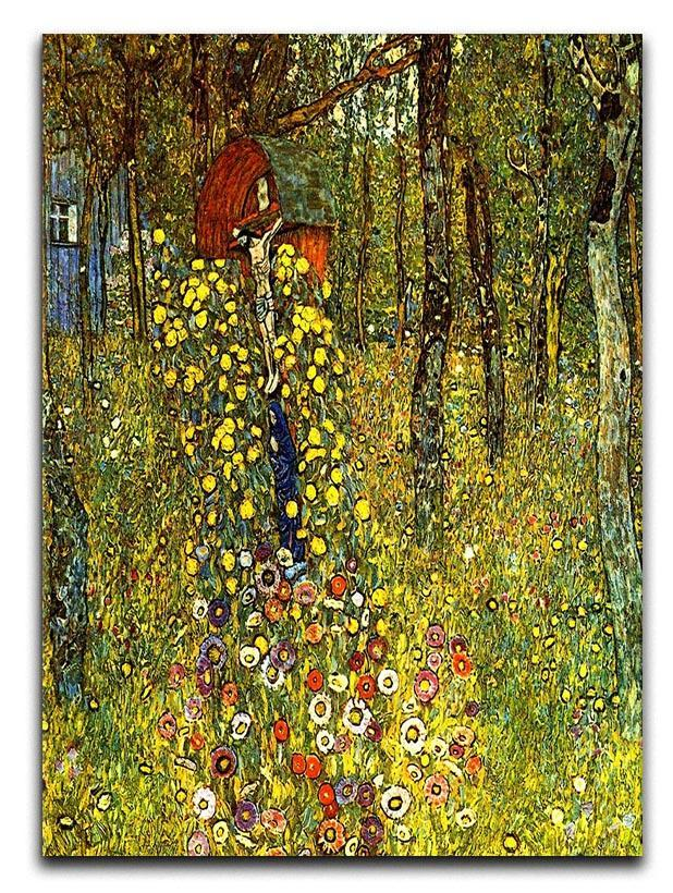 Garden with crucifix by Klimt Canvas Print or Poster  - Canvas Art Rocks - 1