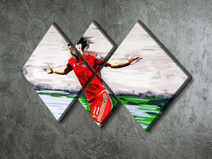 Gareth Bale 4 Square Multi Panel Canvas - Canvas Art Rocks - 2