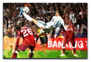 Gareth Bale Overhead Kick Canvas Print or Poster  - Canvas Art Rocks - 1