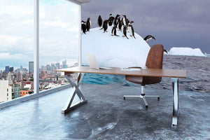 Gentoo penguin jumping into water Wall Mural Wallpaper - Canvas Art Rocks - 3