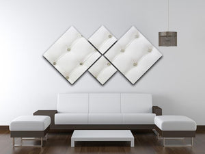 Genuine leather upholstery 4 Square Multi Panel Canvas  - Canvas Art Rocks - 3