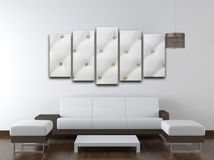 Genuine leather upholstery 5 Split Panel Canvas  - Canvas Art Rocks - 3