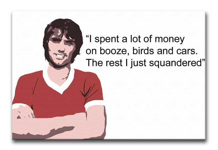 George Best Booze Birds and Cars Print - Canvas Art Rocks - 1