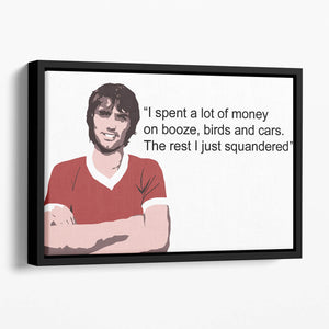 George Best Booze Birds and Cars Floating Framed Canvas