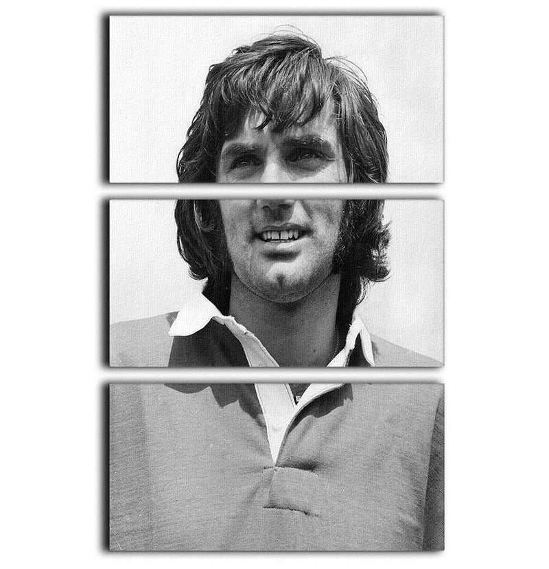 George Best Icon 3 Split Panel Canvas Print - Canvas Art Rocks - 1
