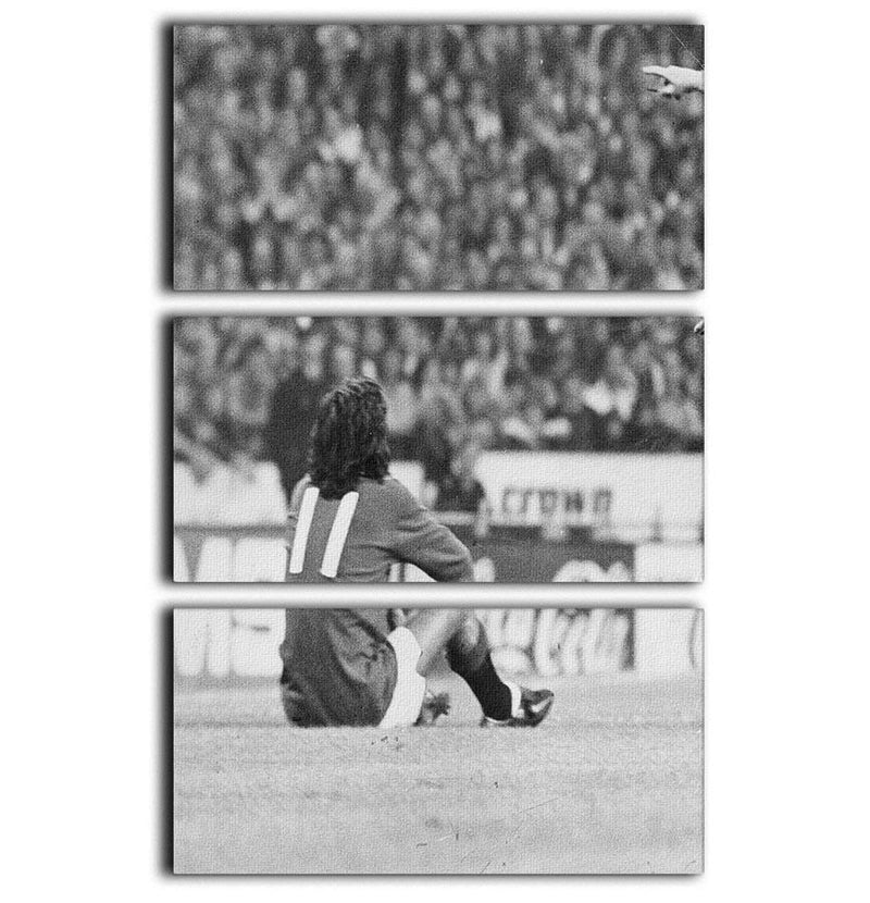 George Best Protest 3 Split Panel Canvas Print - Canvas Art Rocks - 1