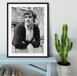 George Best in 1968 Framed Print - Canvas Art Rocks - 1