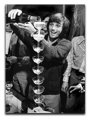 George Best pouring champagne Canvas Print or Poster  - Canvas Art Rocks - 1