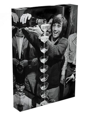 George Best pouring champagne Canvas Print or Poster - Canvas Art Rocks - 3