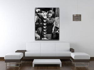 George Best pouring champagne Canvas Print or Poster - Canvas Art Rocks - 4