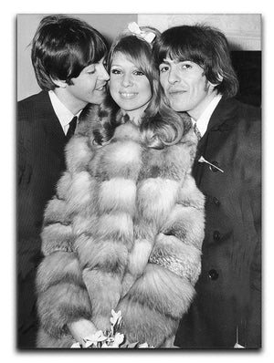 George Harrison and Pattie Boyds wedding with Paul McCartney Canvas Print or Poster  - Canvas Art Rocks - 1