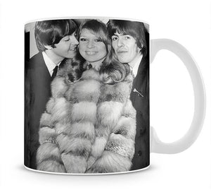 George Harrison and Pattie Boyds wedding with Paul McCartney Mug - Canvas Art Rocks - 1