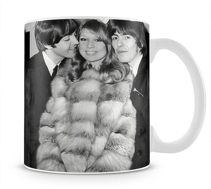 George Harrison and Pattie Boyds wedding with Paul McCartney Mug