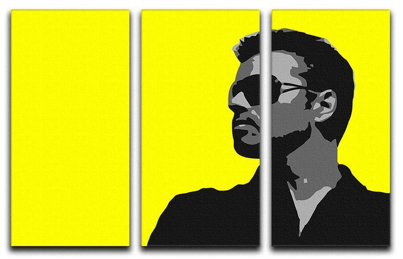 George Michael Pop Art 3 Split Panel Canvas Print - Canvas Art Rocks - 1