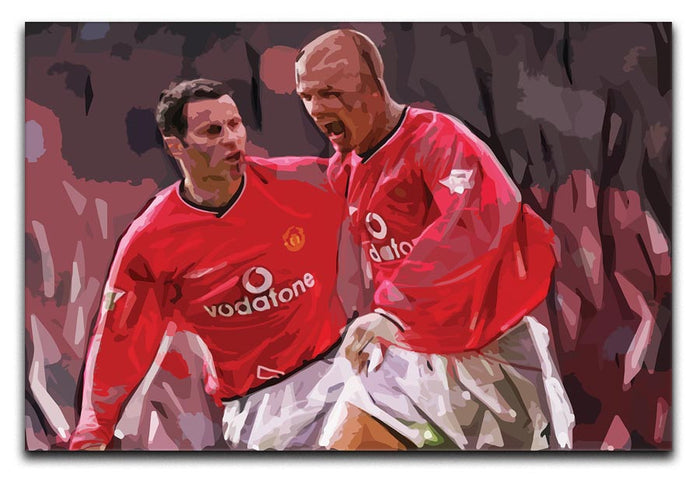Ryan Giggs and David Beckham Canvas Print or Poster
