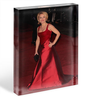Gillian Anderson at the premiere of Les Miserables Acrylic Block - Canvas Art Rocks - 1