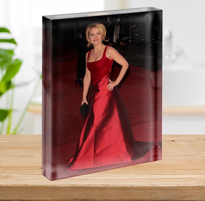 Gillian Anderson at the premiere of Les Miserables Acrylic Block - Canvas Art Rocks - 2