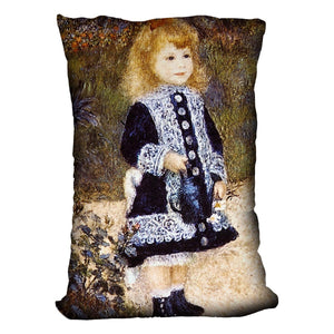 Girl with the Watering Can by Renoir Throw Pillow