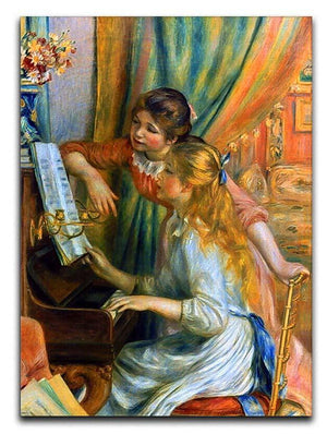 Girls at the Piano by Renoir Canvas Print or Poster  - Canvas Art Rocks - 1
