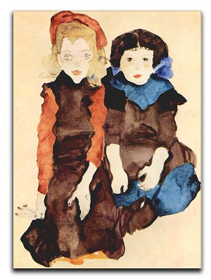 Girls by Egon Schiele Canvas Print or Poster - Canvas Art Rocks - 1