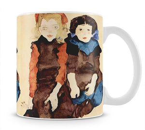 Girls by Egon Schiele Mug - Canvas Art Rocks - 1