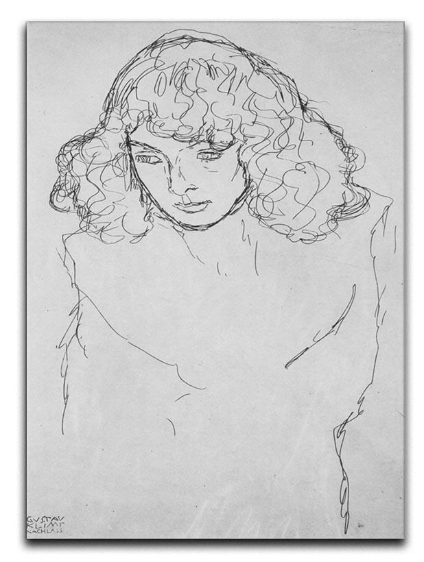 Girls head by Klimt Canvas Print or Poster  - Canvas Art Rocks - 1
